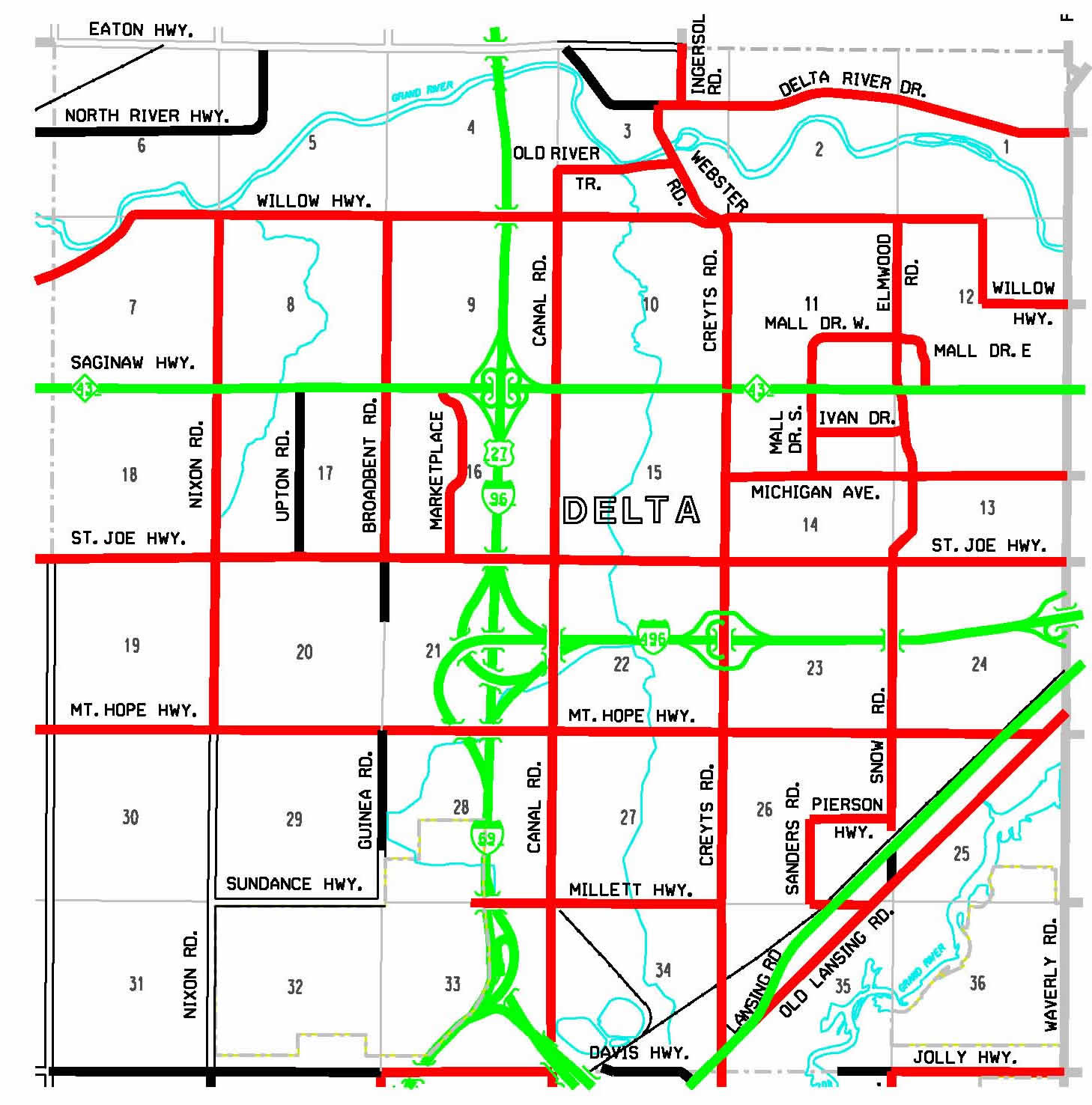 Eaton County Road Commission  About Us  Eaton County Maps  Delta